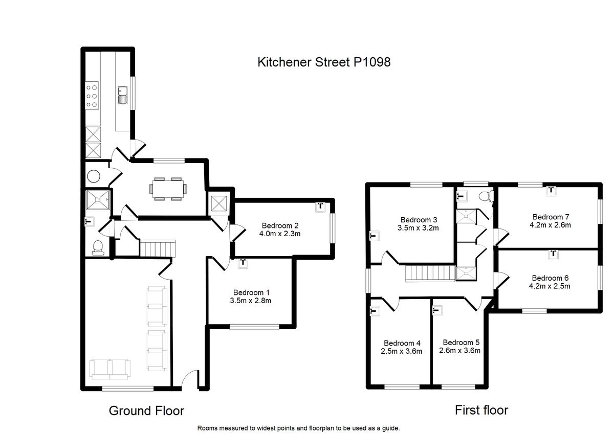 Student housing on Kitchener Street, Huntington Road - floorplan 01
