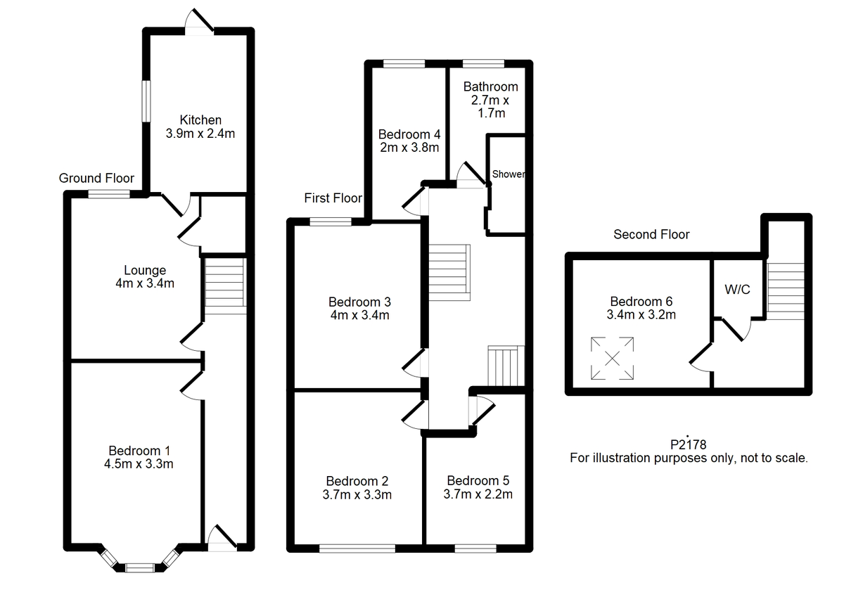 Student housing on Emerald Street, The Groves - floorplan 01