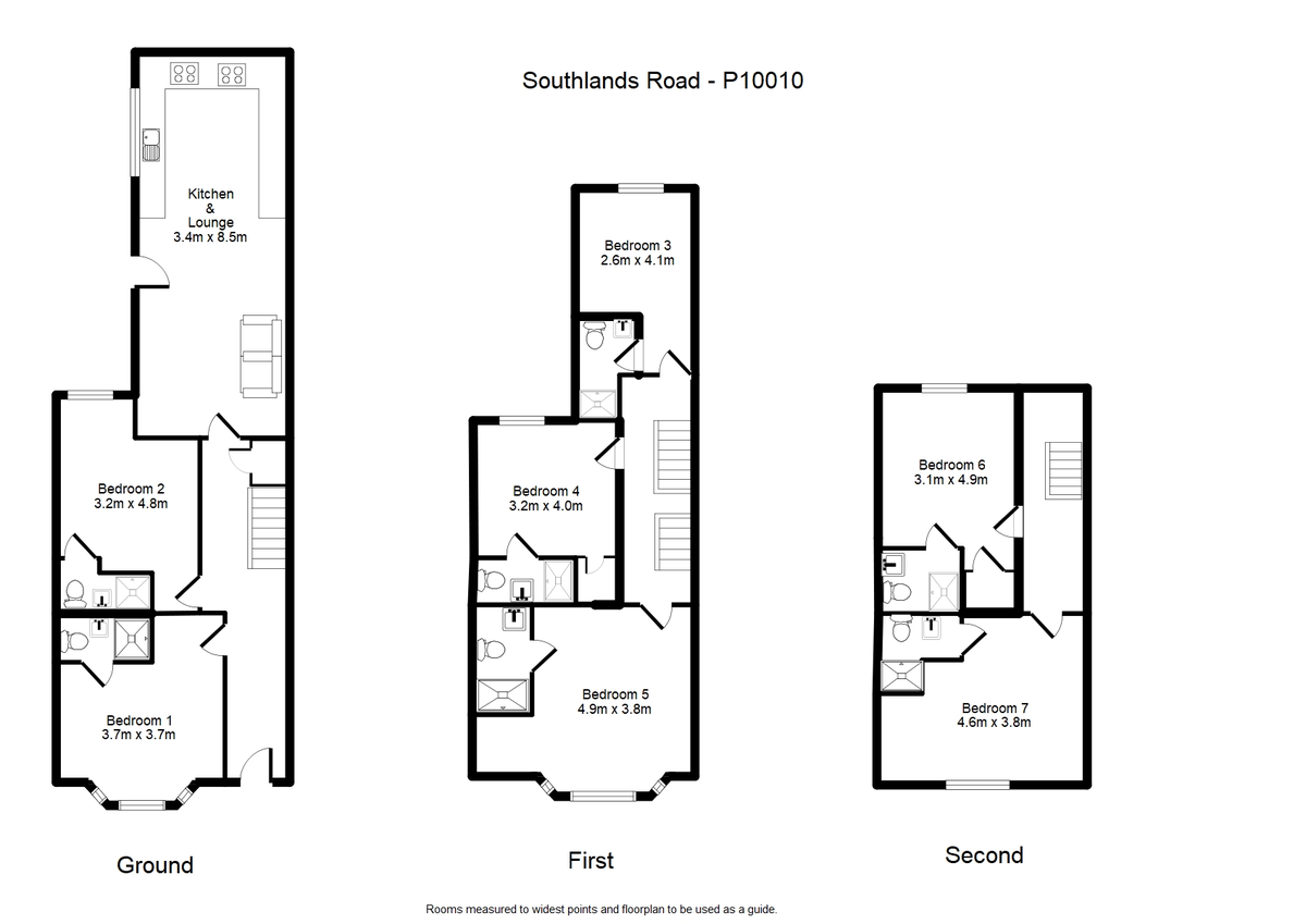 Student housing on Southlands Road, South Bank - floorplan 01