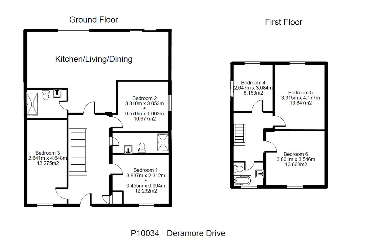 Student housing on Deramore Drive, Badger Hill - floorplan 01