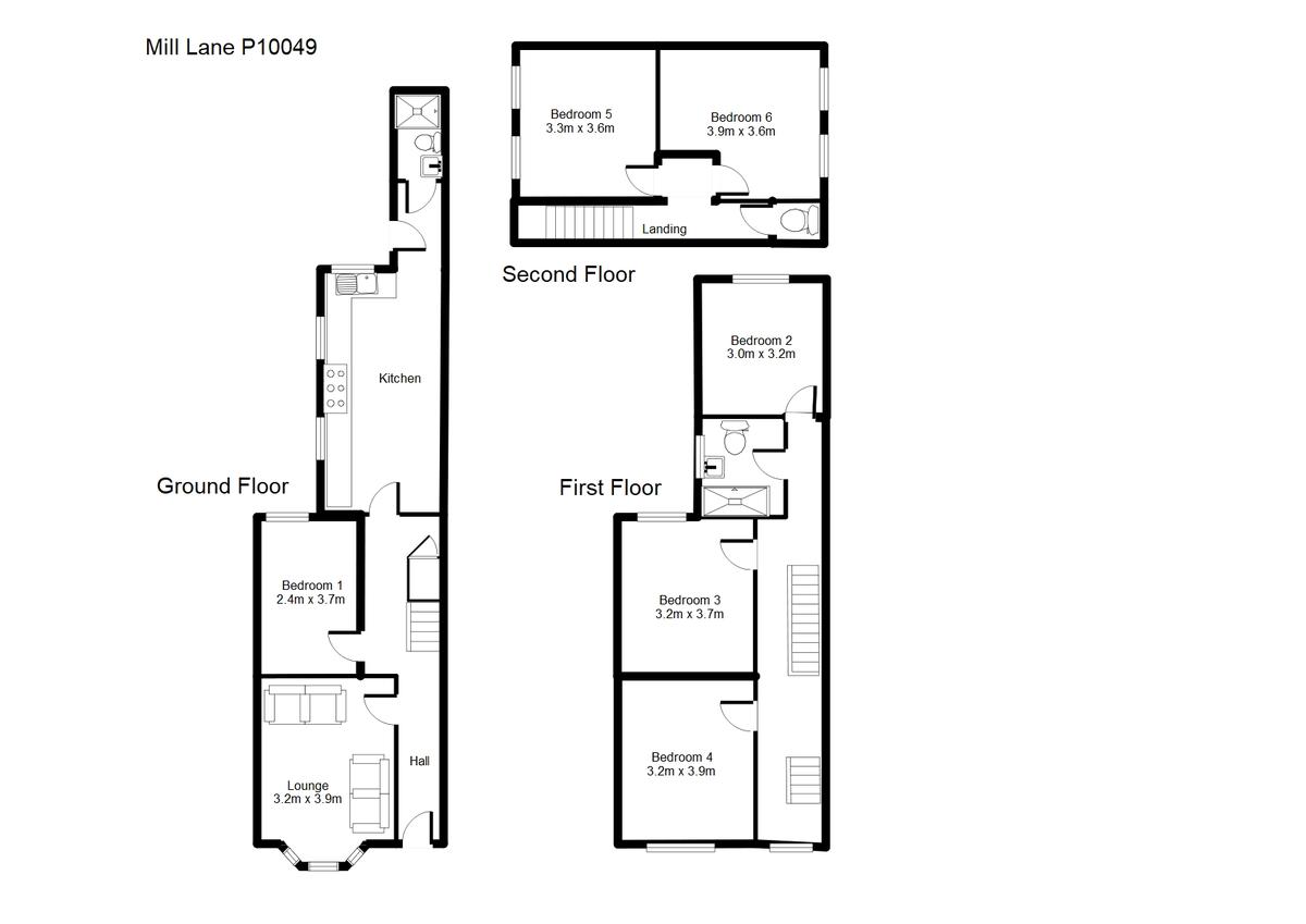 Student housing on Mill Lane, Heworth - floorplan 01