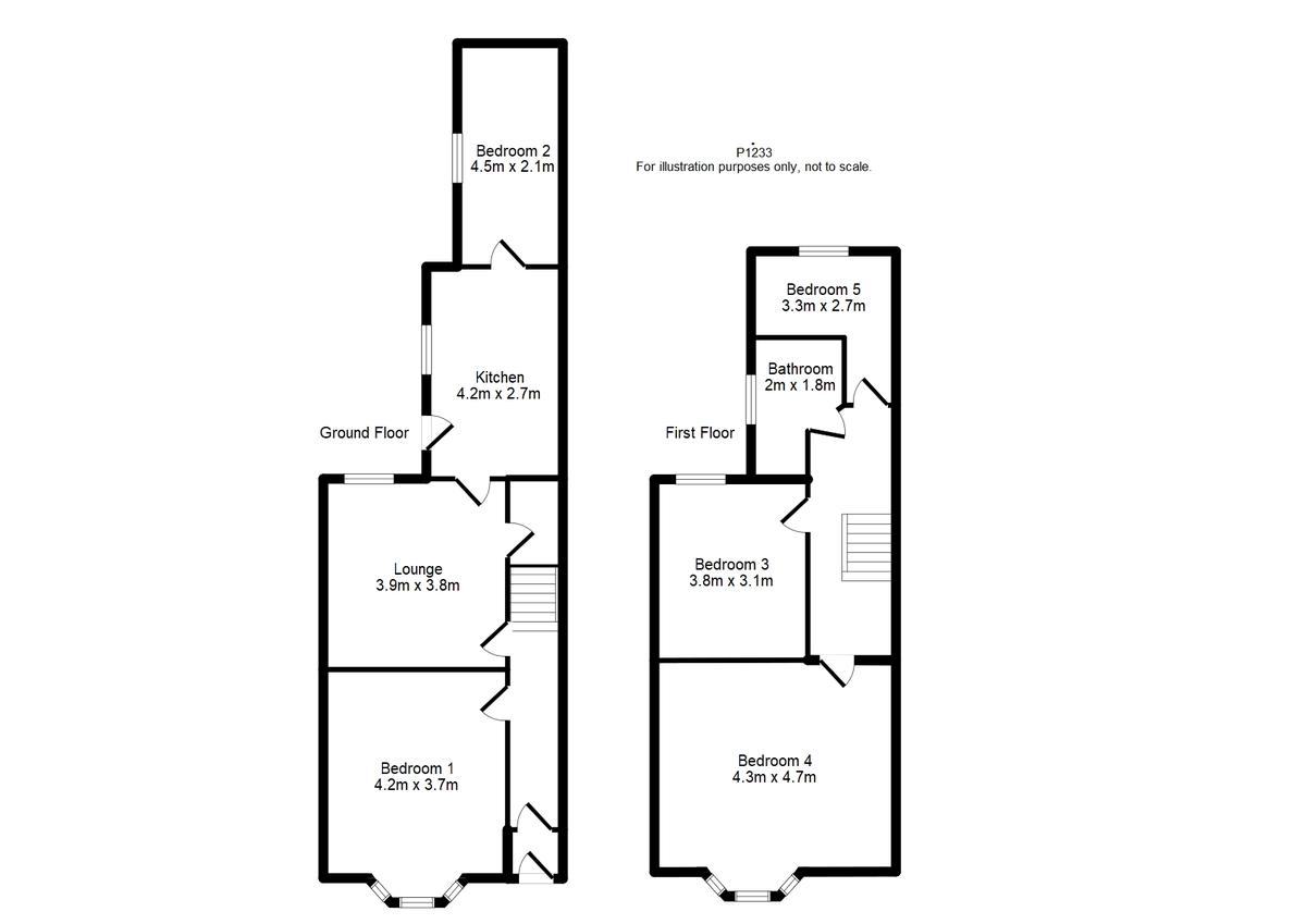 Student housing on Cromer Street, Burton Stone Lane - floorplan 01