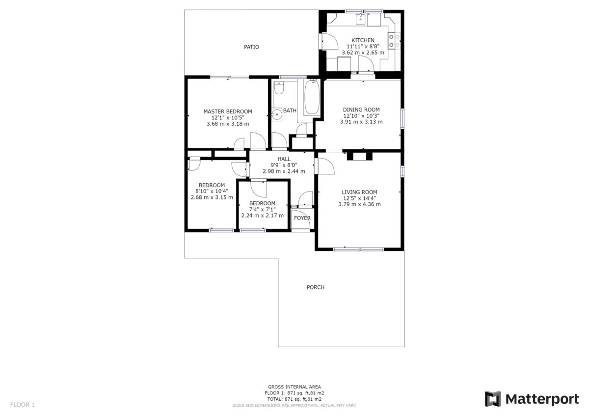 Elm Grove, South Shields floorplan