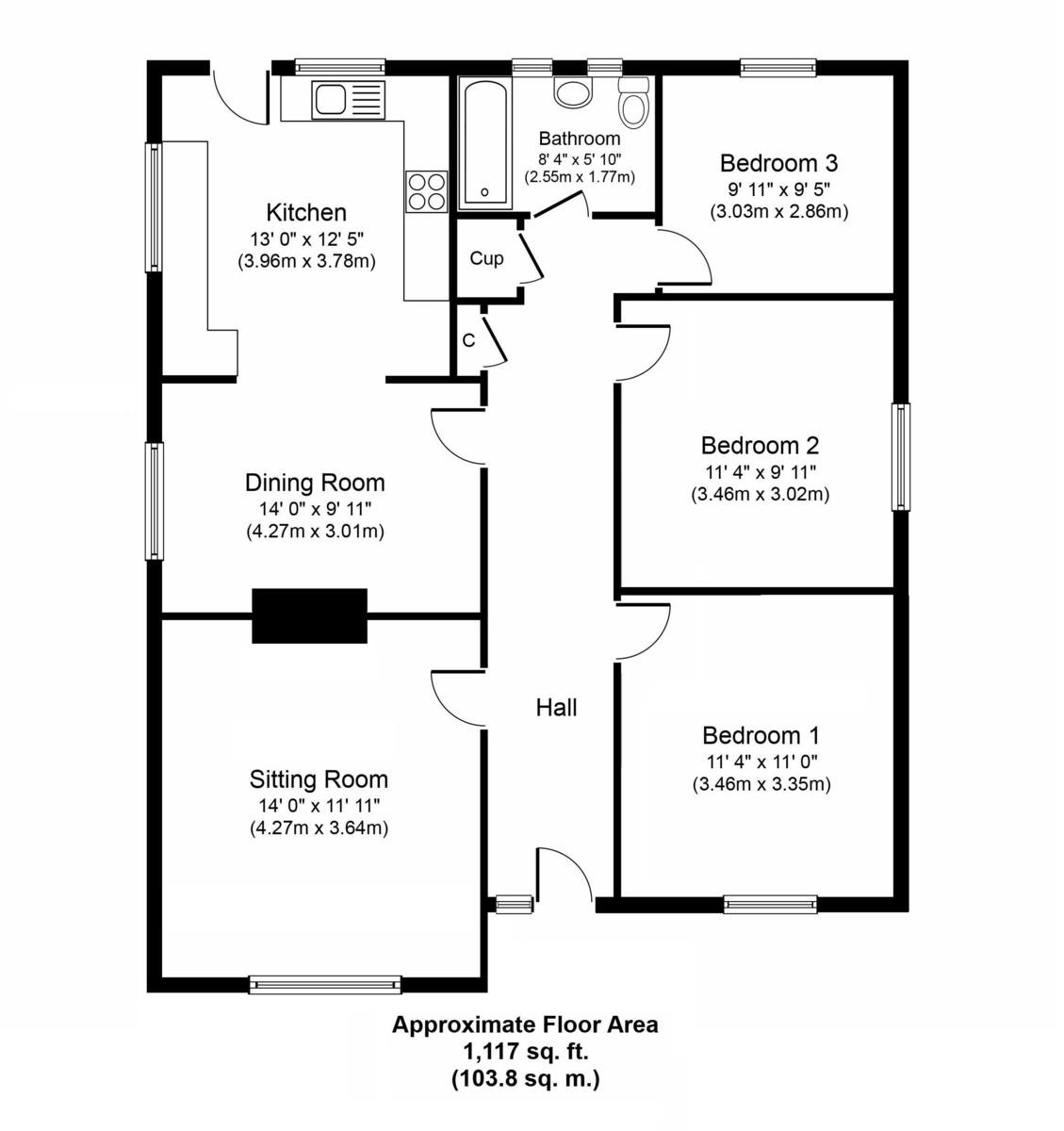 Elmswell, Bury St Edmunds, Suffolk Floorplan