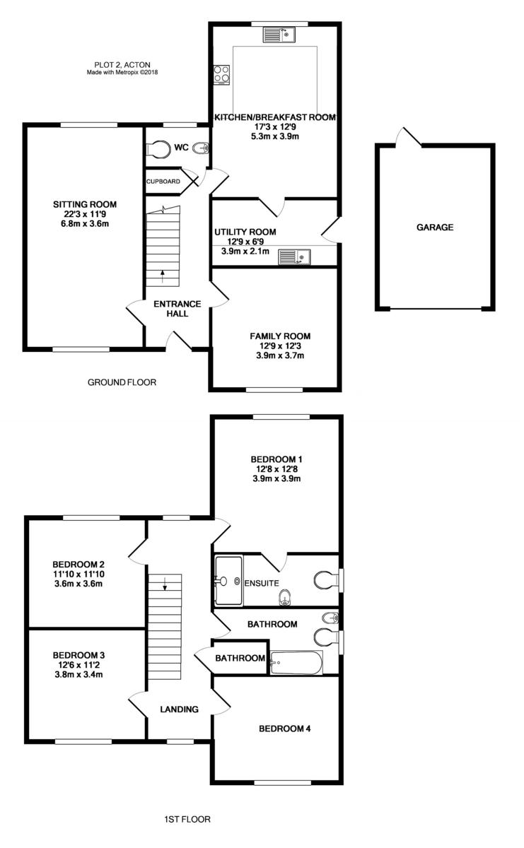 Acton, Sudbury, Suffolk Floorplan