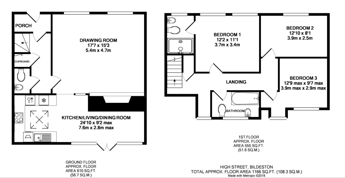 Bildeston, Ipswich, Suffolk Floorplan
