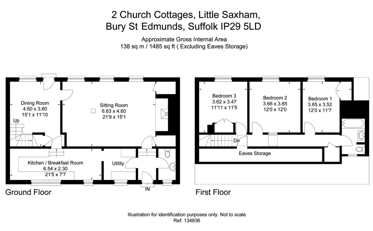 Little Saxham, Bury St Edmunds, Suffolk Floorplan
