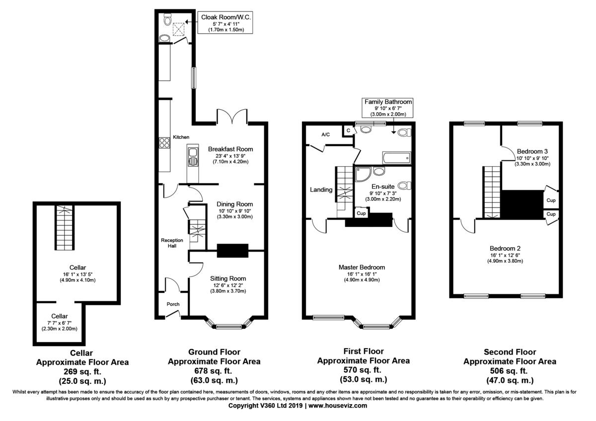 Bury St Edmunds, Suffolk Floorplan
