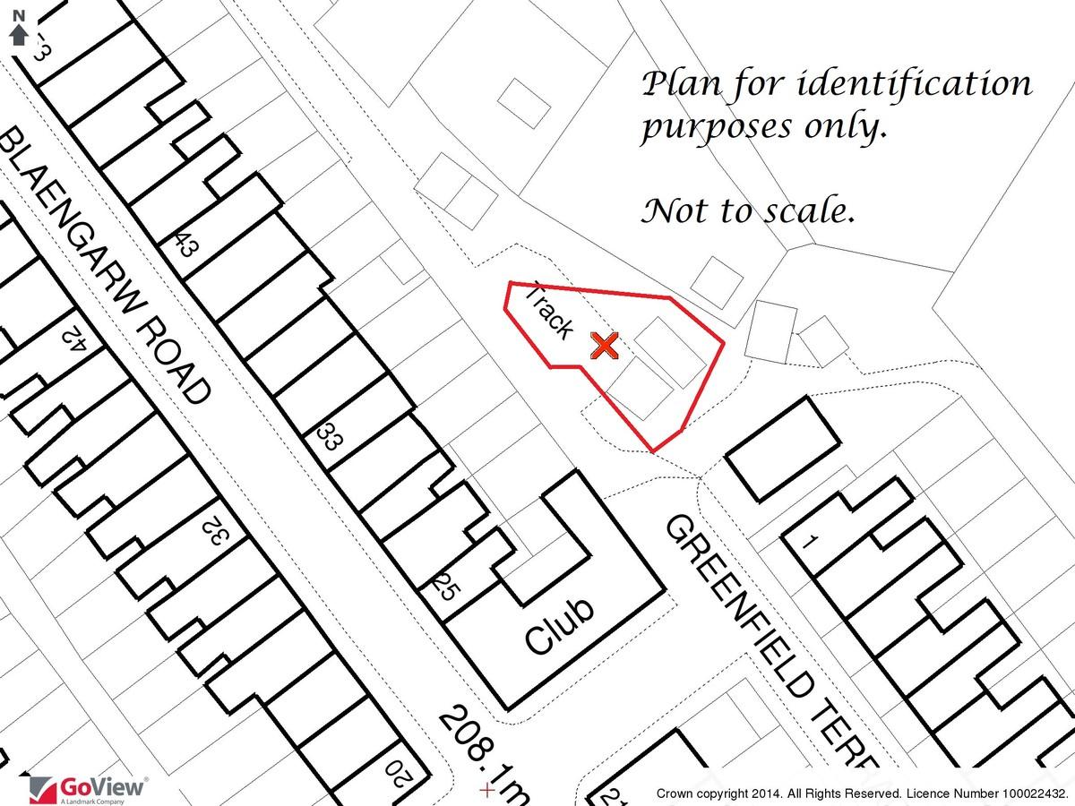 Auction 375 LOT 8 Land at Greenfield Terrace, Blaengarw, Bridgend, Mid Glamorgan, CF32 8AN