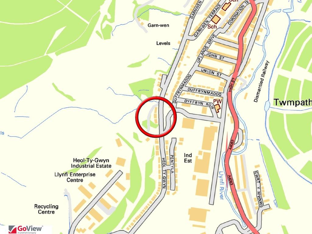 LOT 8  Land to the rear of 104-113 Heol Ty Gwyn, Maesteg, Bridgend, CF34 0BD