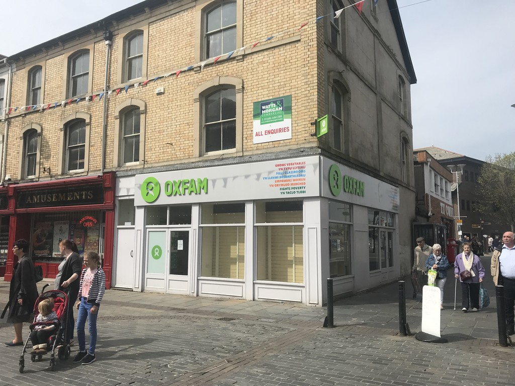 Three Storey Town Centre, Shop & Premises, 21 Wyndham Street, Bridgend, CF31 1ED