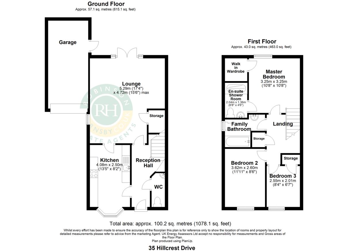 Property Floorplan | Robinson Hornsby Estate Agents