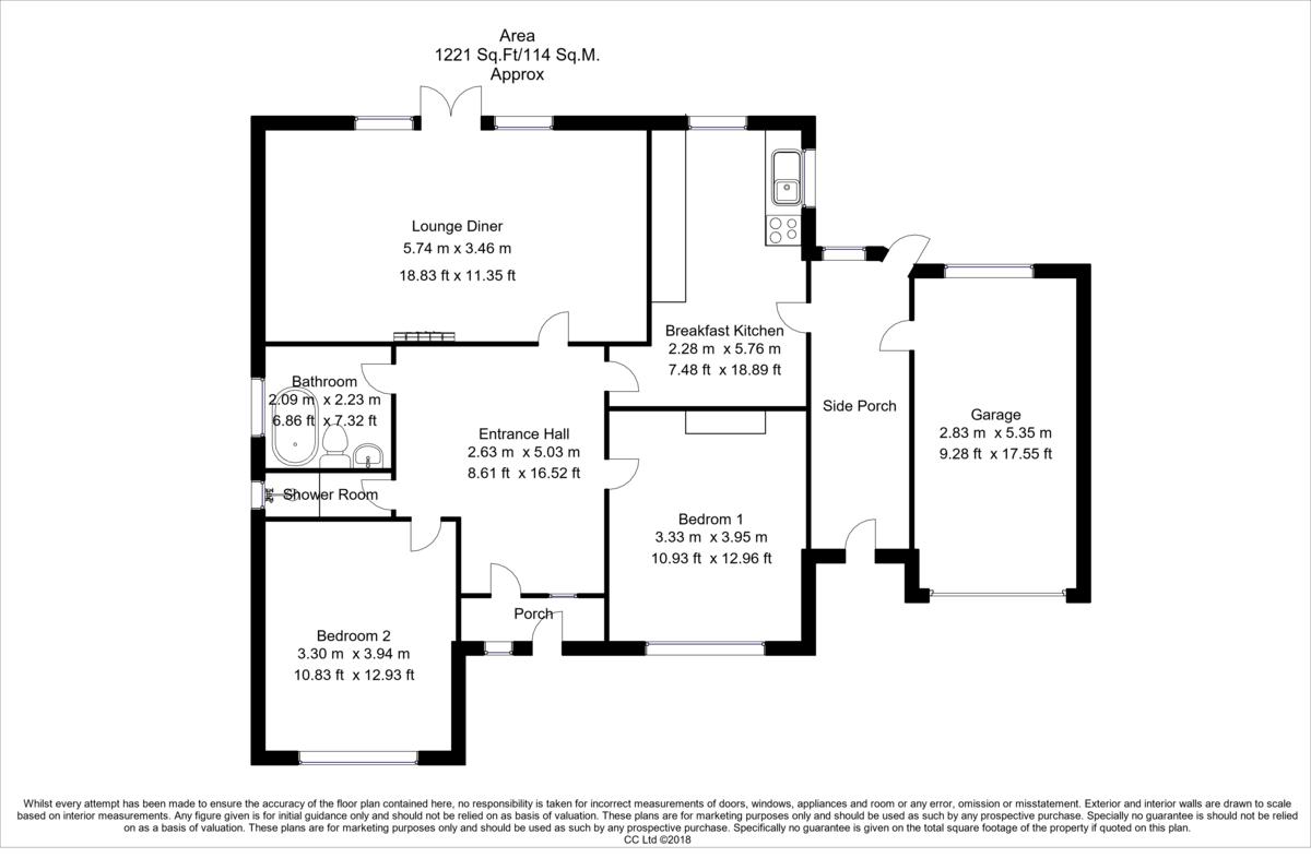 Property Floorplan   Robinson Hornsby Estate Agents